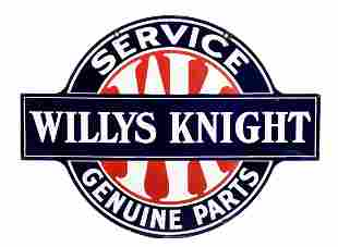 Willys Knight Service Genuine Parts Dealership Sign