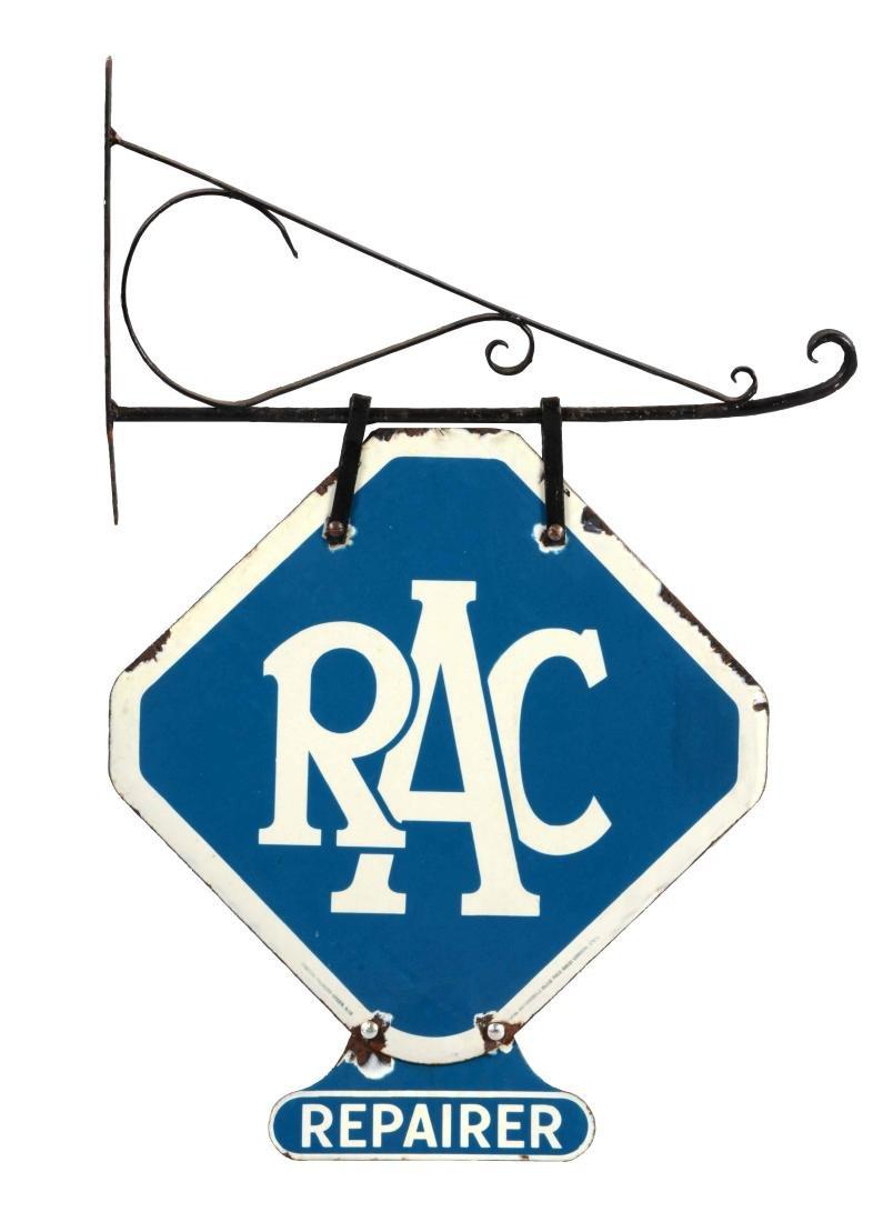 Royal Automobile Club Porcelain Sign with Original Iron