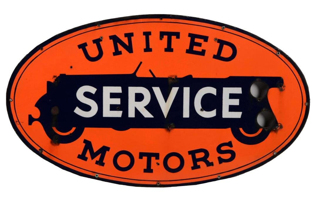 United Motors Service Porcelain Neon Sign Skin.