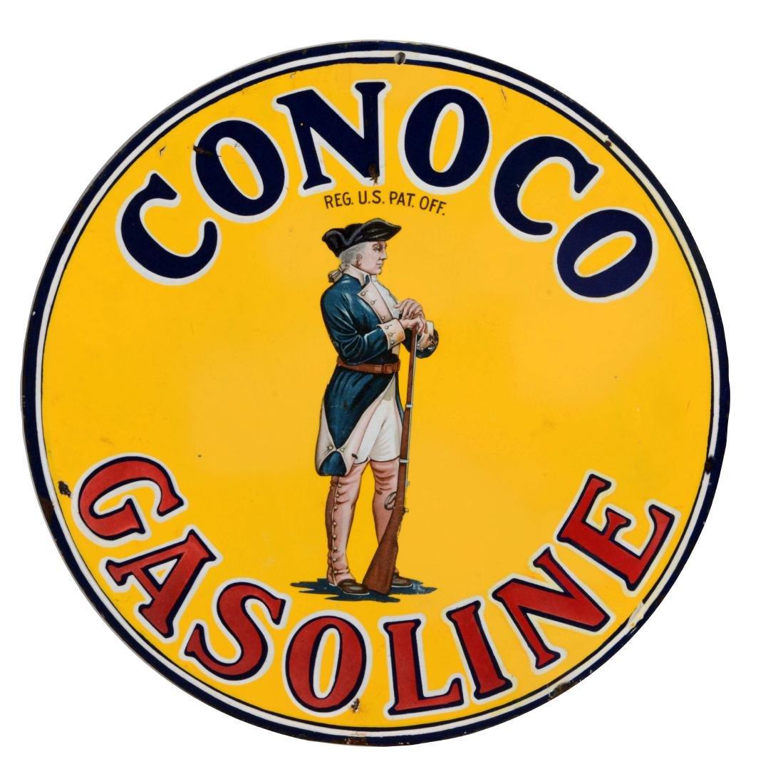 Conoco Gasoline with Minuteman Graphic.