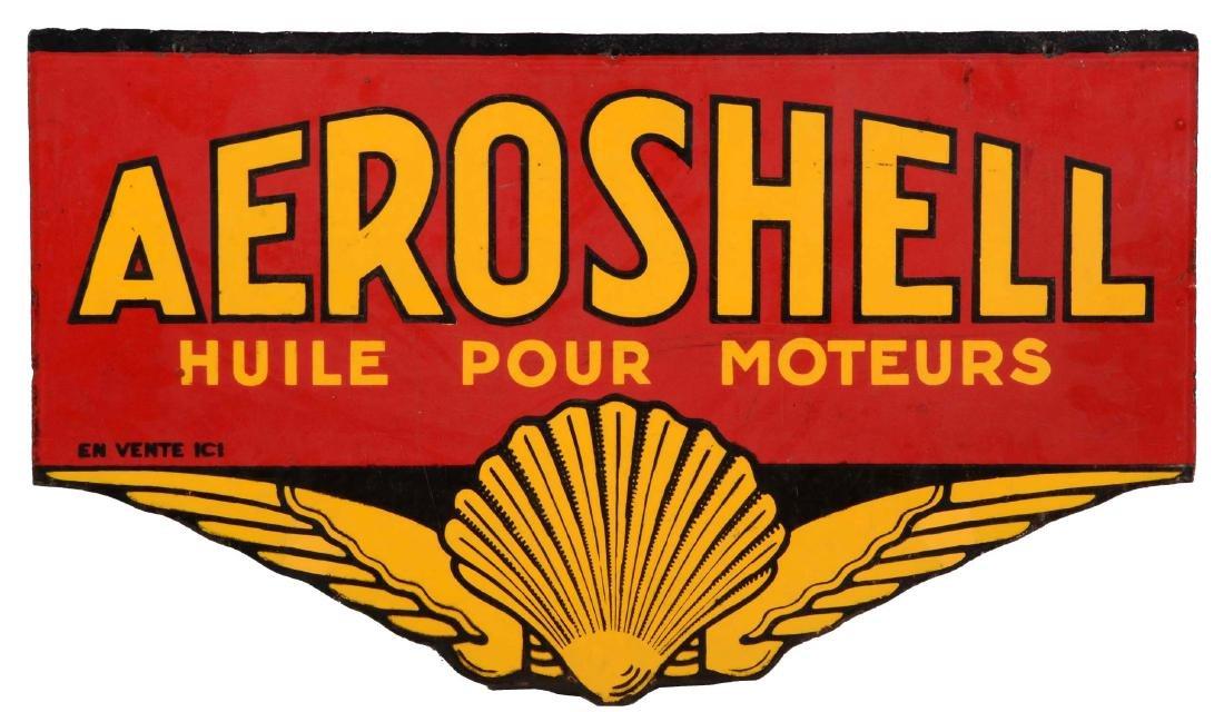 Shell Motor Oil Aeroshell Porcelain Sign With Shell