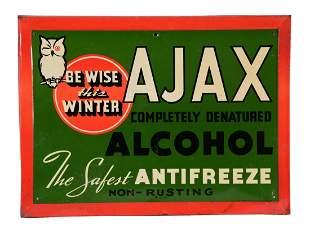 Ajax Antifreeze Self Framed Tin Sign