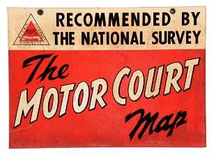 The National Survey Motor Court Map Tin Sign