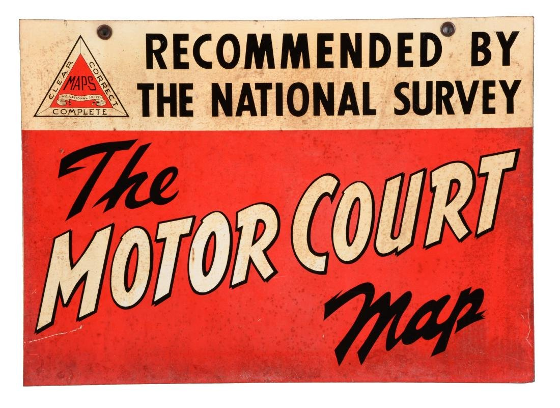The National Survey Motor Court Map Tin Sign.