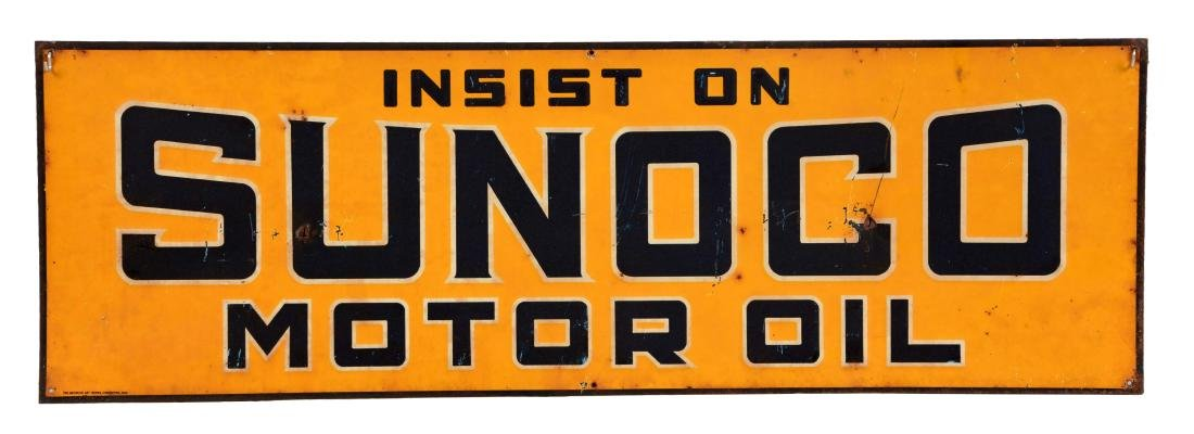 Insist On Sunoco Motor Oil Tin Sign.