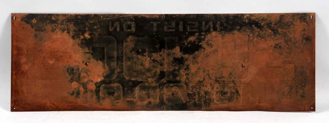 Insist On Sunoco Motor Oil Tin Sign. - 3