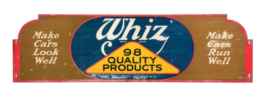 Whiz Quality Products Tin Display Rack Topper Sign.