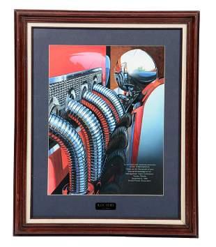 Ram Horn by R Horgan Framed Original Artwork
