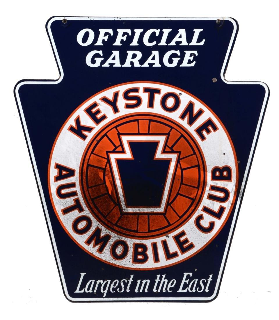 Keysone Automobile Club Official Garage Sign.