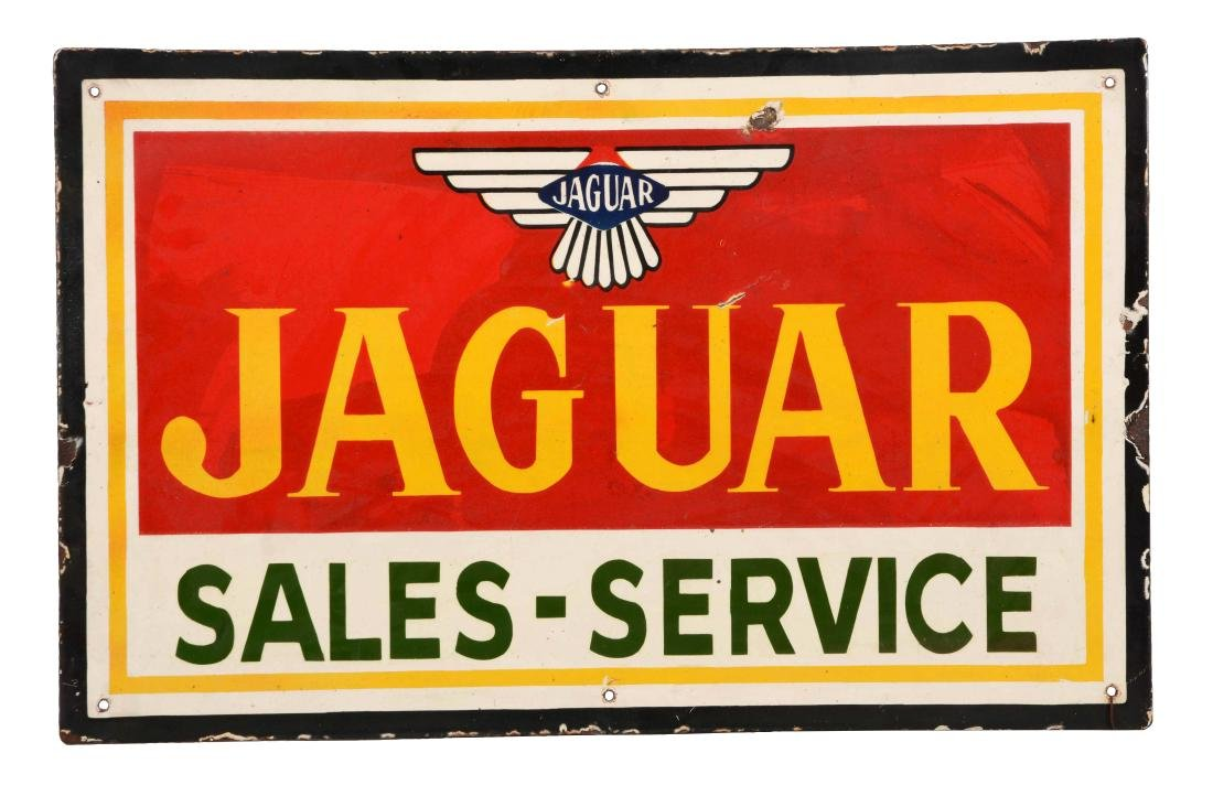 Jaguar Sales and Service Foreign Dealership Porcelain