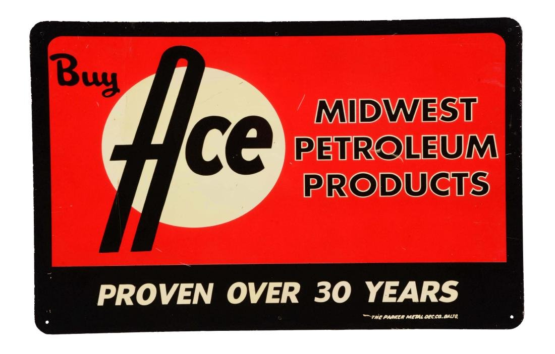 Ace High Motor Oil Tin Sign.