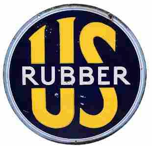 US Tires Rubber Porcelain Sign
