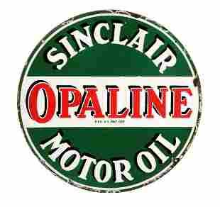 Sinclair Opaline Motor Oil Porcelain Sign