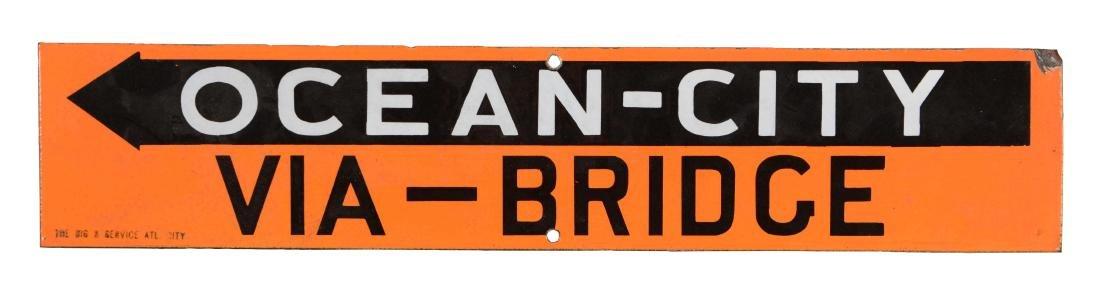 Ocean City Via Bridge Porcelain Highway Sign.