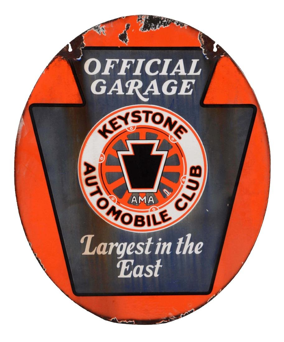 Keystone Automobile Club Official Garage Porcelain
