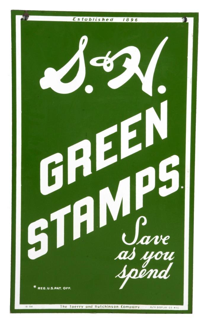 S & H Green Stamps Porcelain Sign.