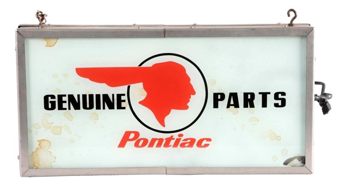 Pontiac Genuine Parts Glass Face Light Up Store