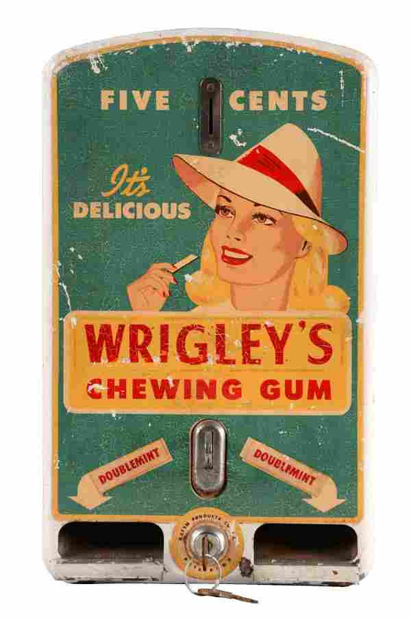 Wrigley's Chewing Gum Vending Machine.