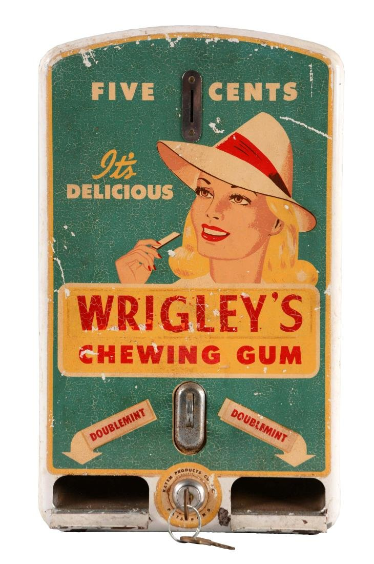 Wrigley's Chewing Gum Vending Machine.