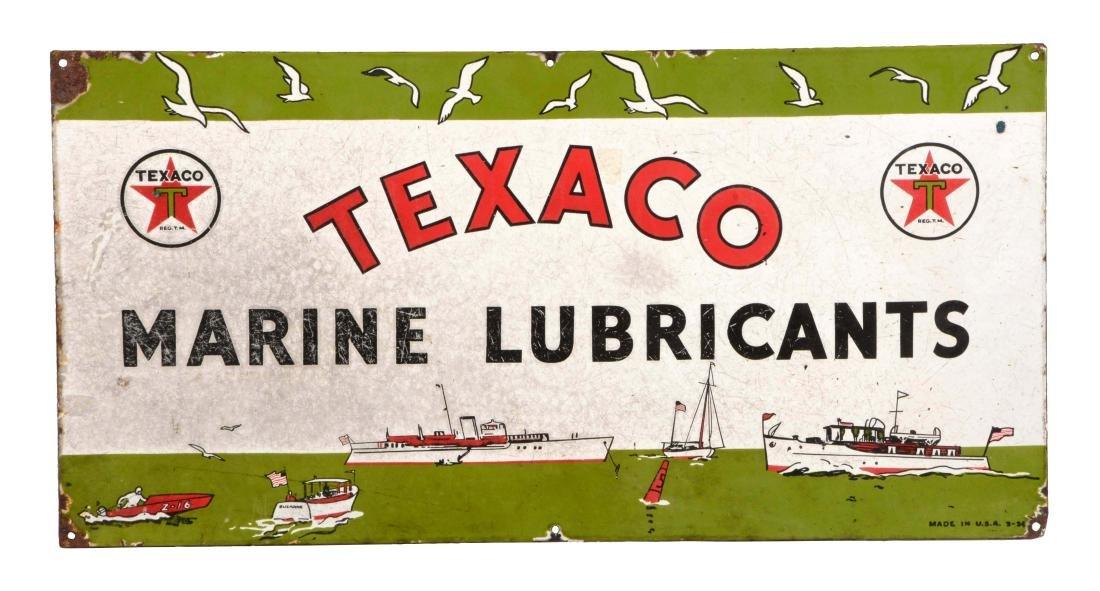 Texaco Marine Lubricants Porcelain Sign.