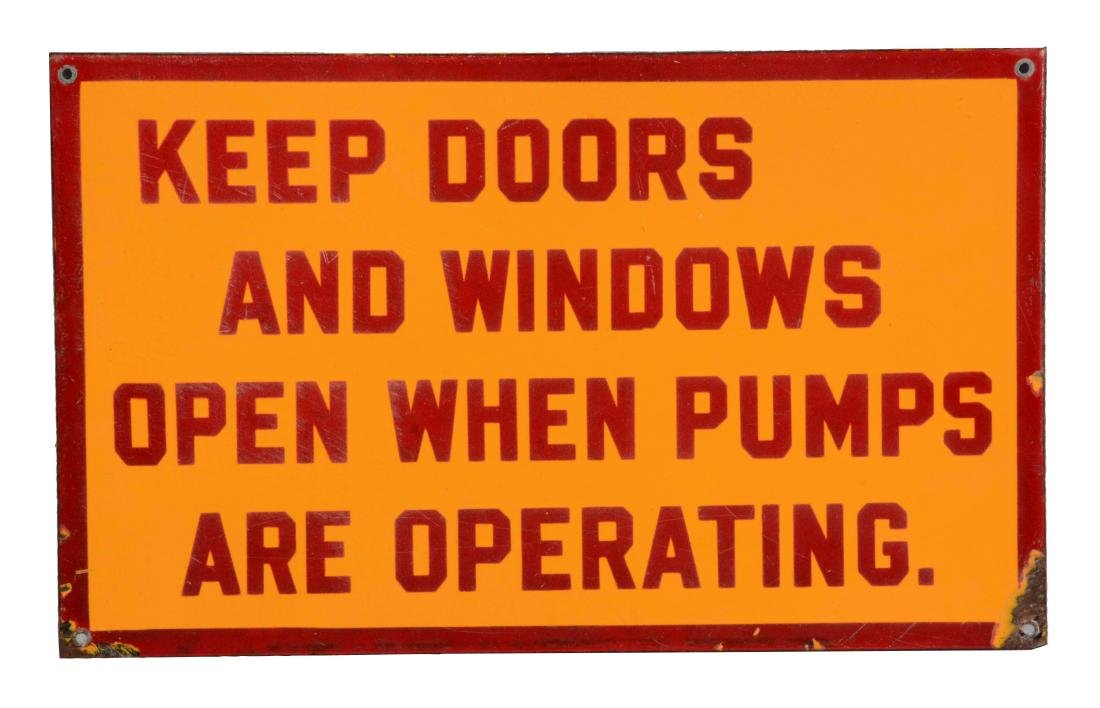 Shell Gasoline Keep Doors & Windows Open When Pumps Are