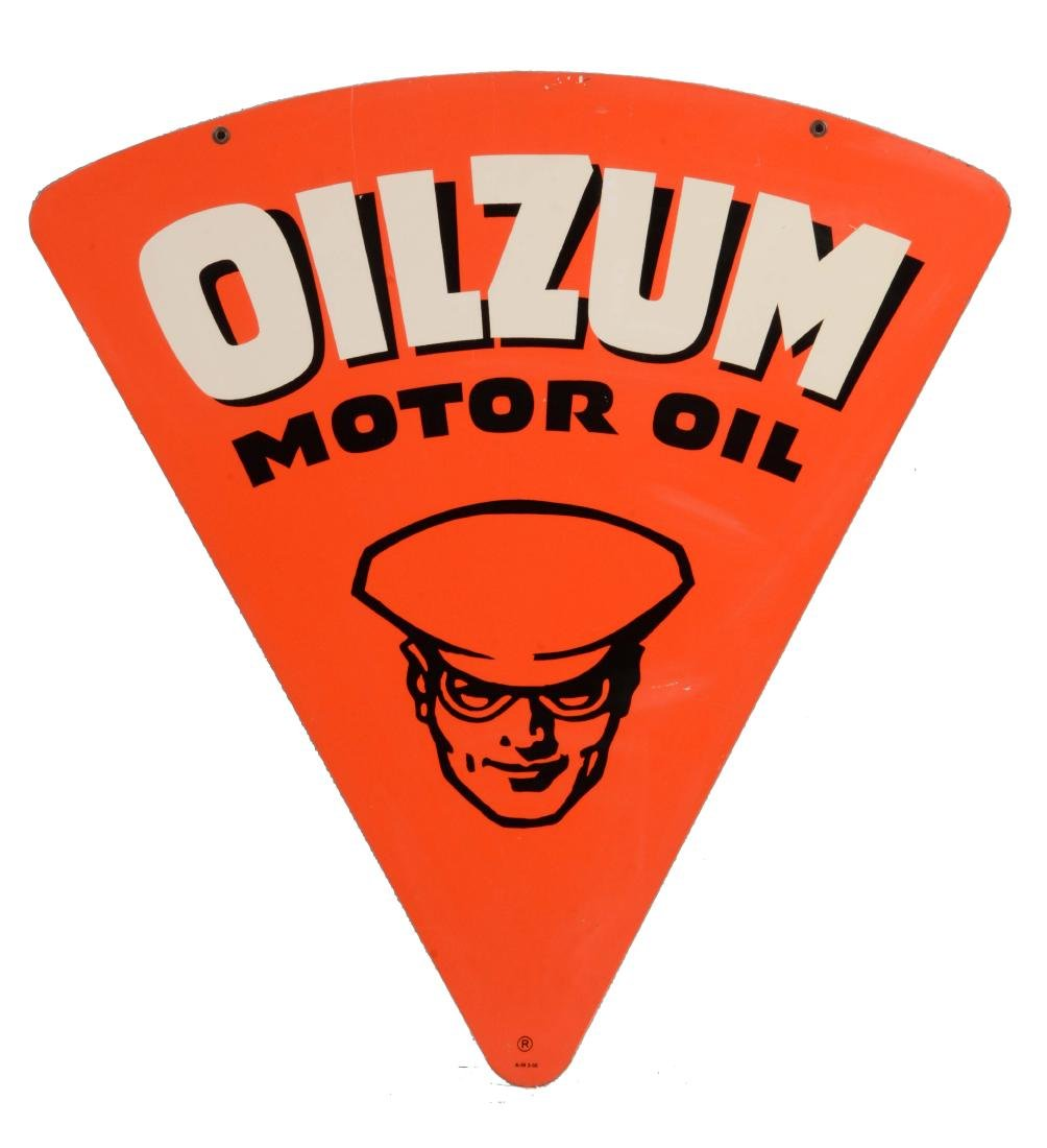 Oilzum Motor Oil Tin Sign with Oswald The Driver