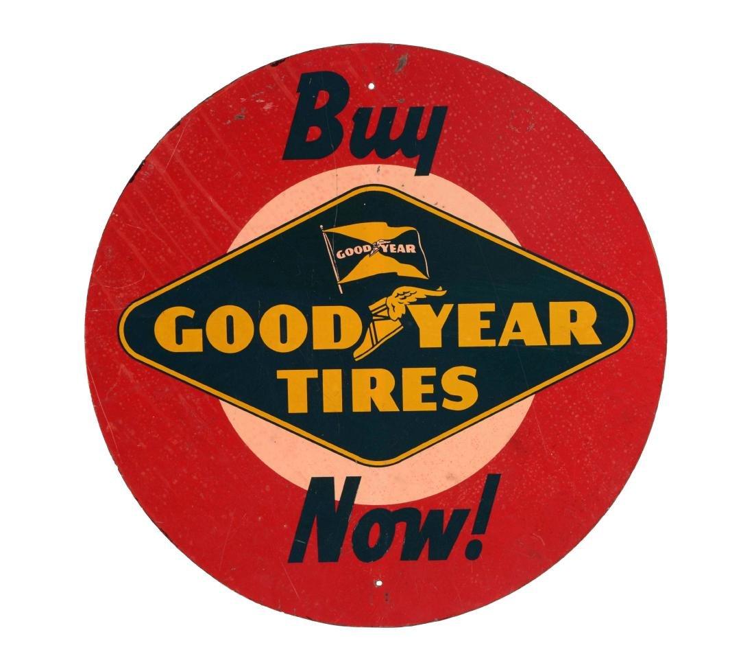 Good Year Tires Tin Tire Rack Sign.