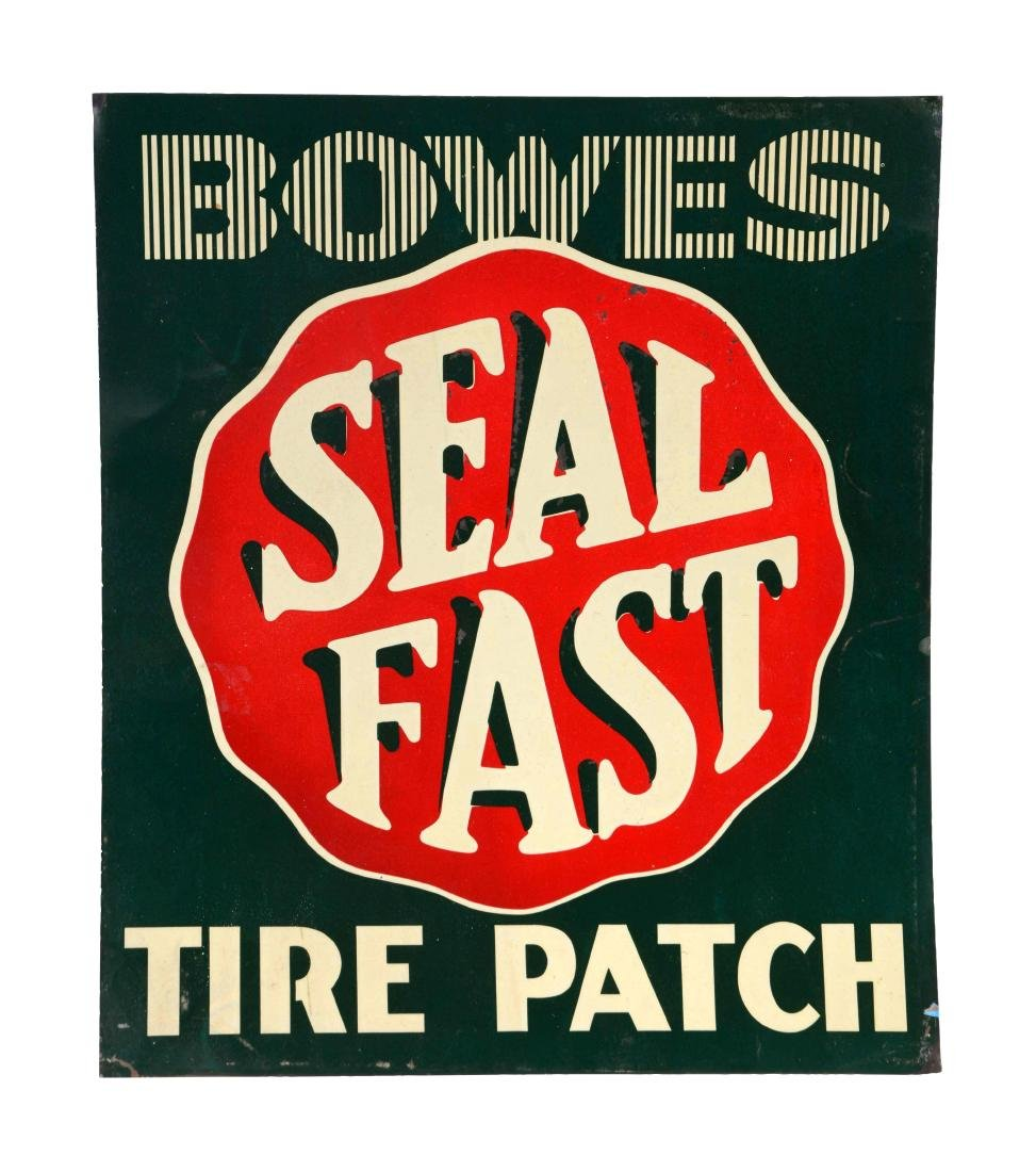 Bowes Seal Fast Tire Patch Tin Sign.