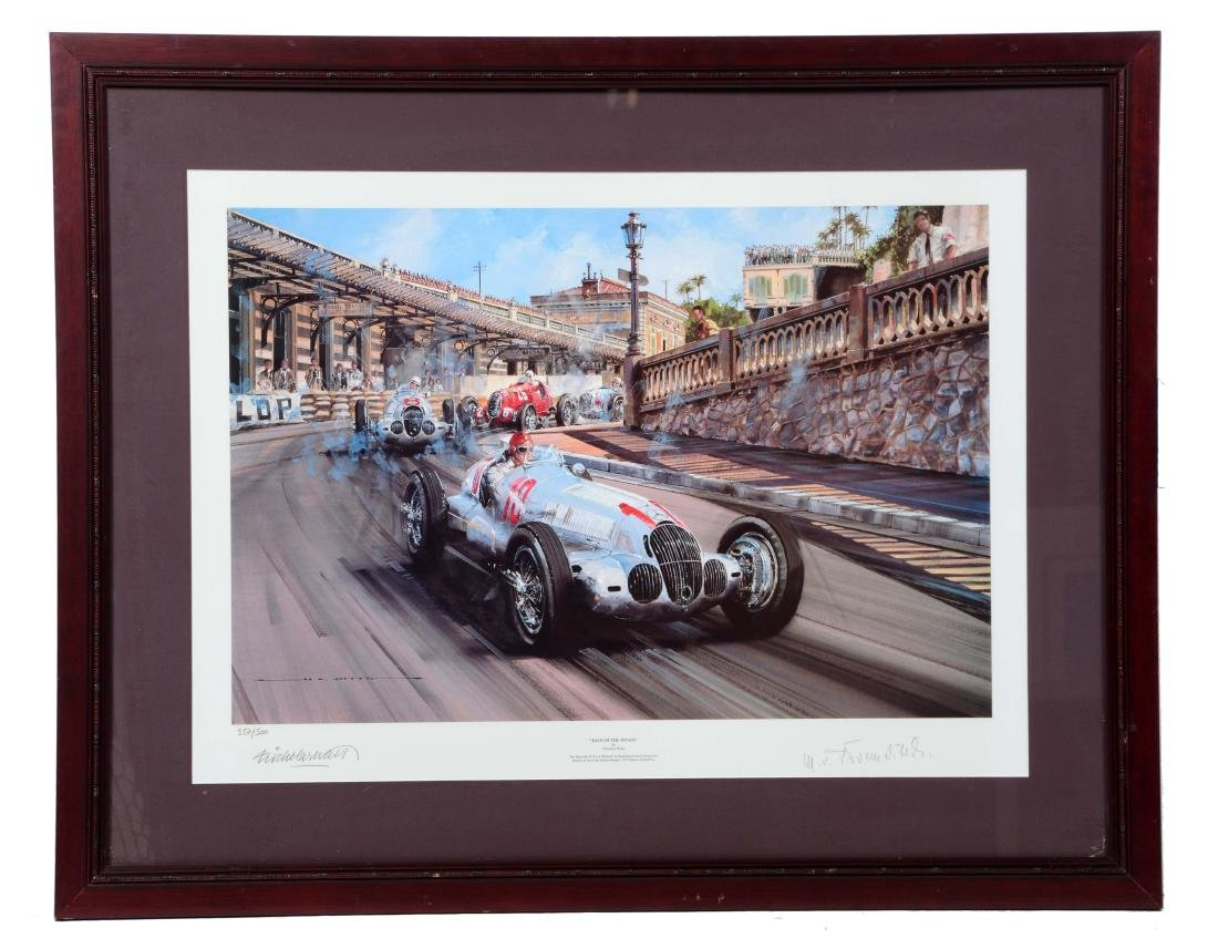 Race of the Titans By Nicholas Watts Framed Artwork.
