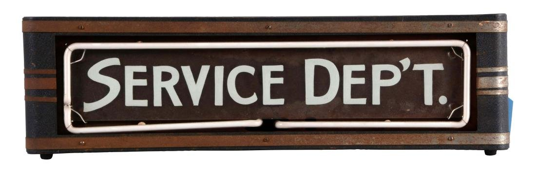 Service Department Reverse Glass Neon Store Display