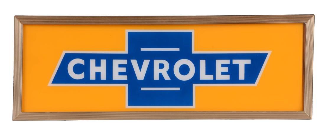 Chevorlet Light Up Store Display Sign.