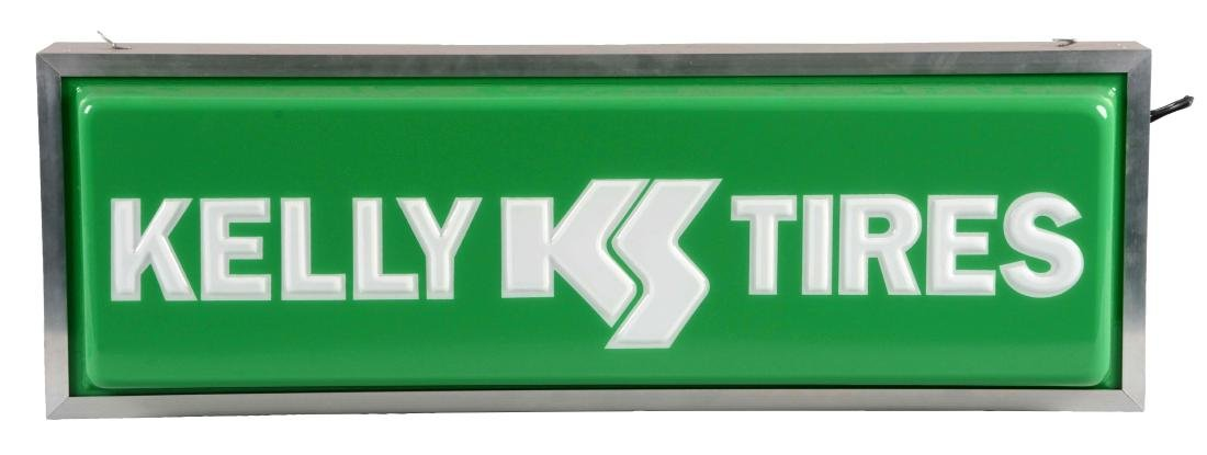 Kelly Tires Embossed Plastic Light Up Store Display