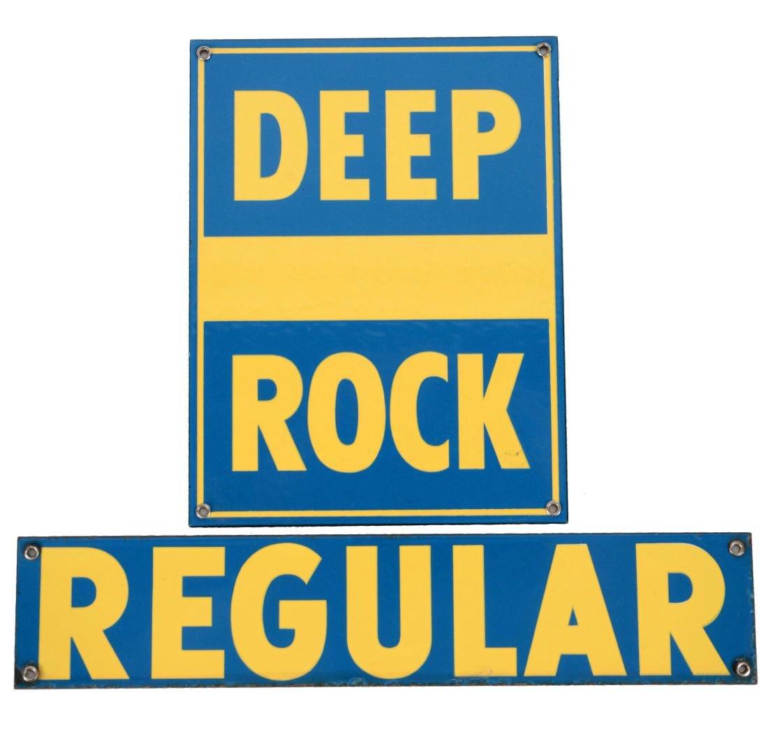 Lot Of 2: Deep Rock Gasoline Regular Porcelain Pump