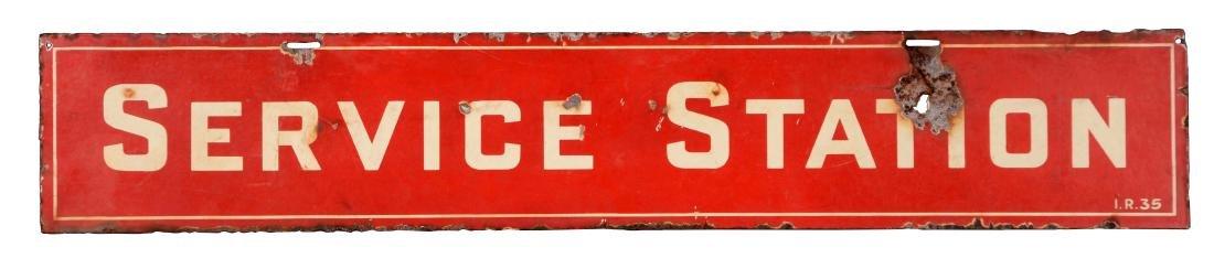 Socony Mobil Porcelain Service Station Strip Sign.