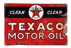 Texaco (black T) Motor Oil Porcelain Sign.