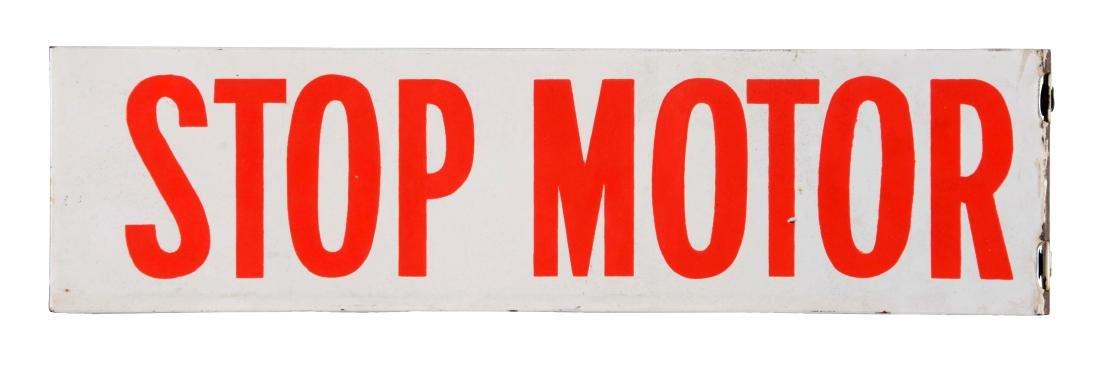 Stop Motor Porcelain Flange Sign
