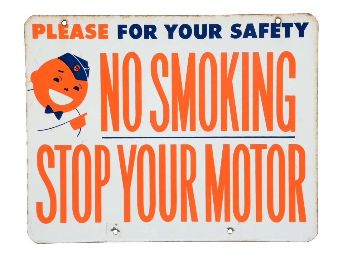 """Union 76 """"No Smoking-Stop Your Motor"""" with Speedy"""