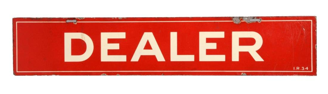 Mobil Gasoline Porcelain Dealer Strip Sign.