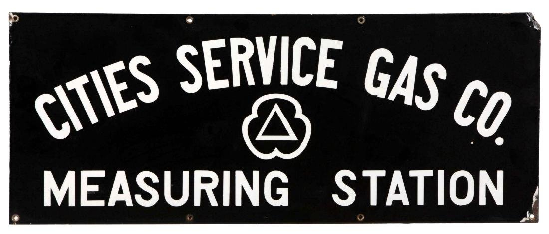 Cities Service Gas Measuring Station Porcelain Sign.