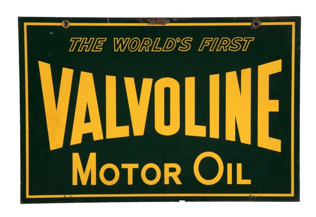 Valvoline Motor Oil Tin Sign.