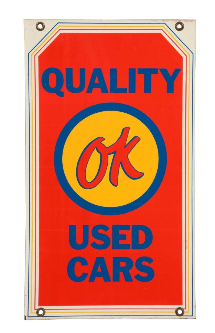OK Used Cars Quality You Can Trust Tin Sign.