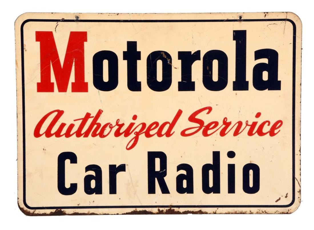 Motorola Car Radio Service Tin Sign.