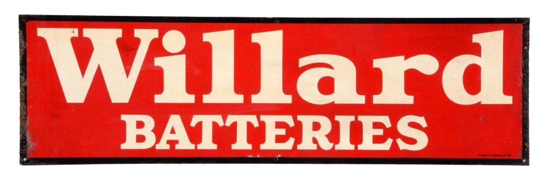 Willard Batteries Tin Service Station Sign.