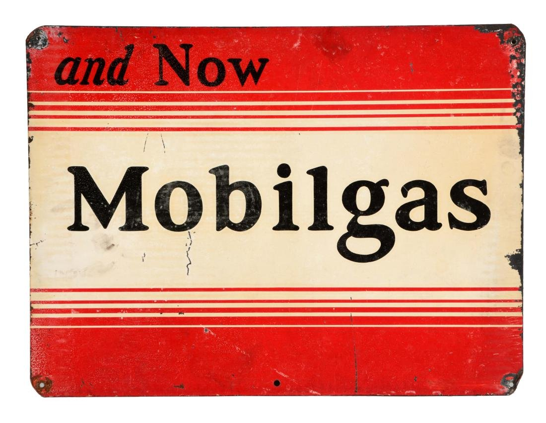 And Now Mobilgas Tin Sign.