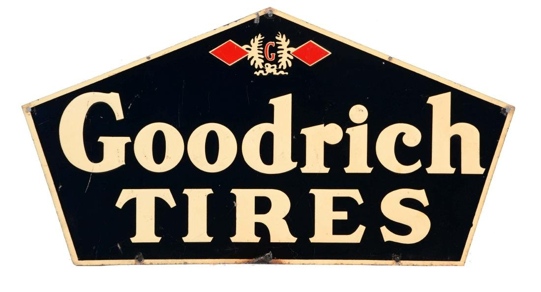 Goodrich Tires Embossed Tin Sign.