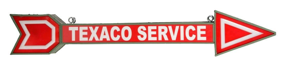 Texaco Service Light Up Arrow Sign.