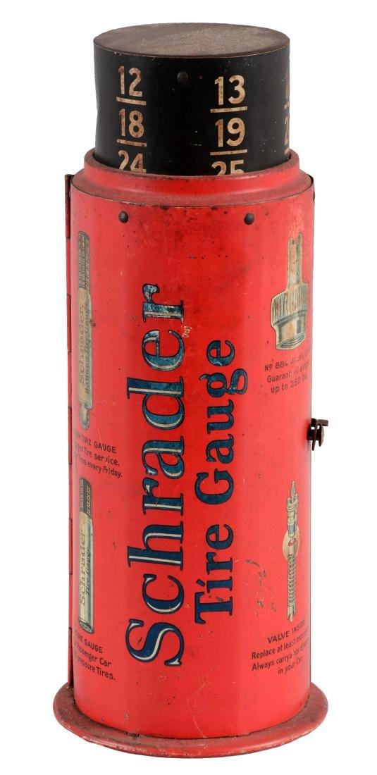 Schrader Tire Gauge Cabinet Store Display.