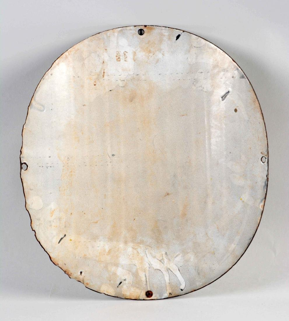 Texaco Motor Oil Curved Porcelain Pump Plate. - 2