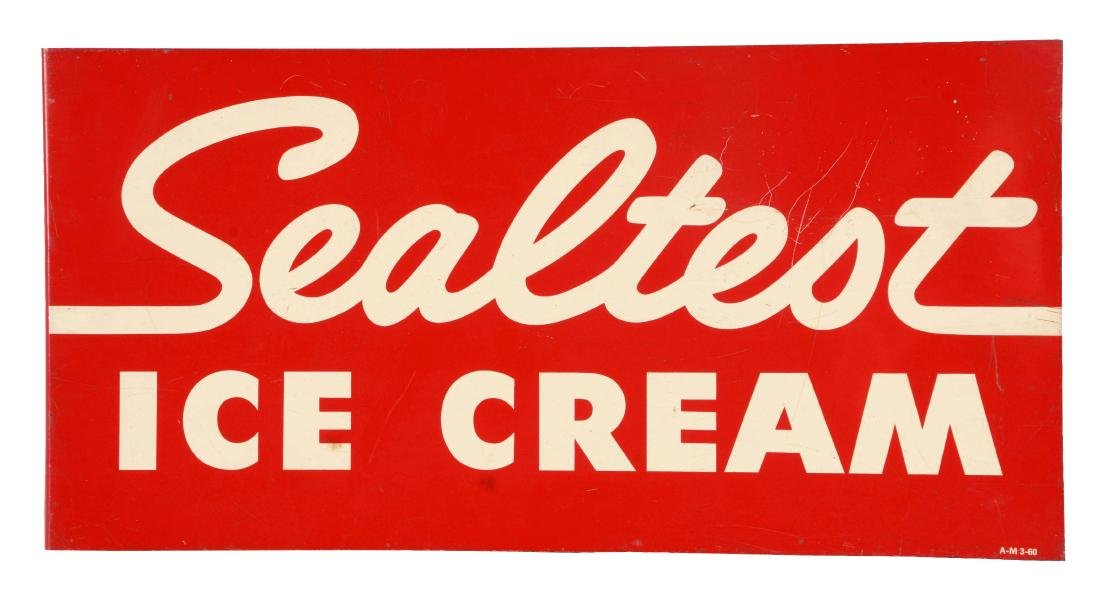 Sealtest Ice Cream Tin Flange Sign.