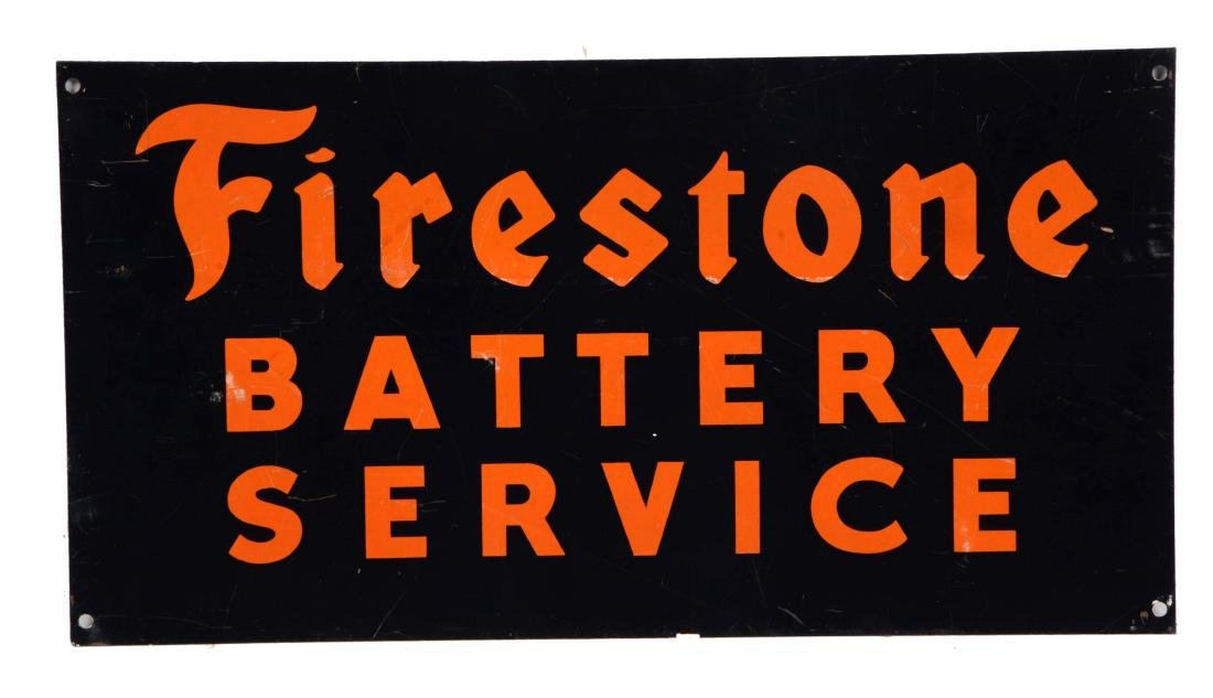 Firestone Battery Service Tin Sign.